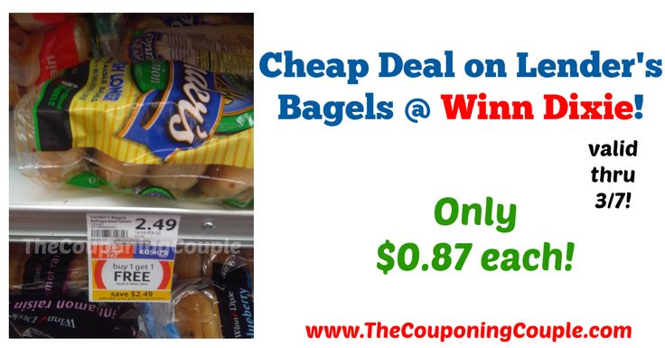LOVE this deal!! Super quick to pick up this week through 3/7! Cheap Deal on Lender's Bagels @ Winn Dixie!  Click the link below to get all of the details ► http://www.thecouponingcouple.com/cheap-deal-on-lenders-bagels-winn-dixie/ #Coupons #Couponing #CouponCommunity  Visit us at http://www.thecouponingcouple.com for more great posts!