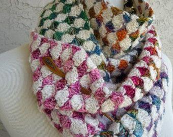 The Diamond Exchange Crochet Scarf - PATTERN / PDF