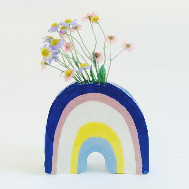rainbow vase - Lisa Junius