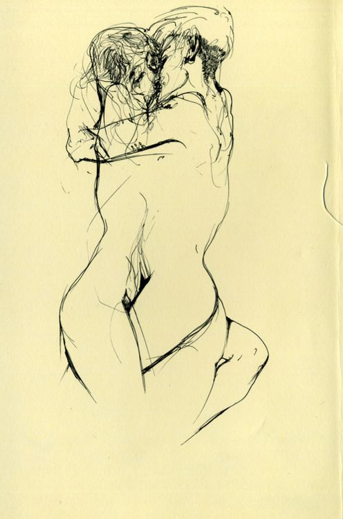 : Line Drawings, Illustrations Art, A Kiss, Figures Drawings, Graphics Design, Art Drawings, Arthur Elgort, Art Attack, Egon Schiele
