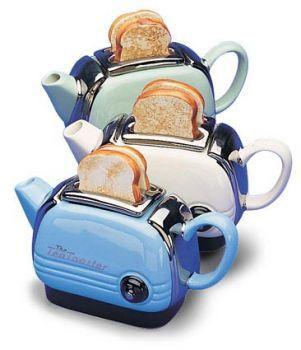 teapot toasters: Idea, Teas Time, Teapots Toaster, Breakfast, Teas Pots, Toaster Teapots, Cool Inventions, New Inventions, Teas Kettles