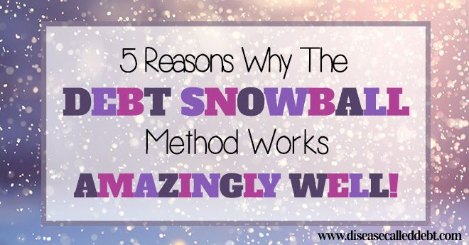 Debt snowball method: how it works and WHY it works so well to eliminate debt. Read this before trying to tackle your debt with the highest interest rate!