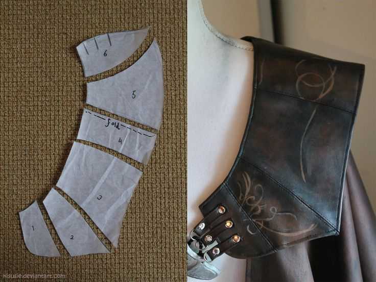 Ezio pauldron pattern by kisusie on DeviantArt                                                                                                                                                      More