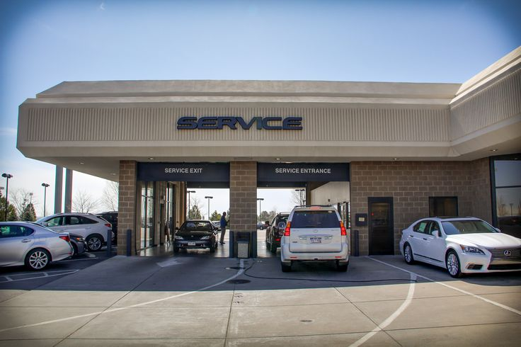 The Service Drive Entrance At Kuni Lexus Of Colorado Springs.