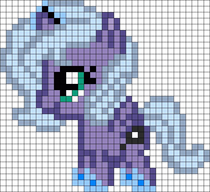 Filly Luna My Little Pony Perler Bead Pattern / Bead Sprite