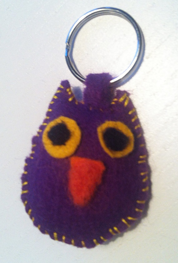 Purple Owl by mirakelfol on Etsy, $6.00.   Only $6??!