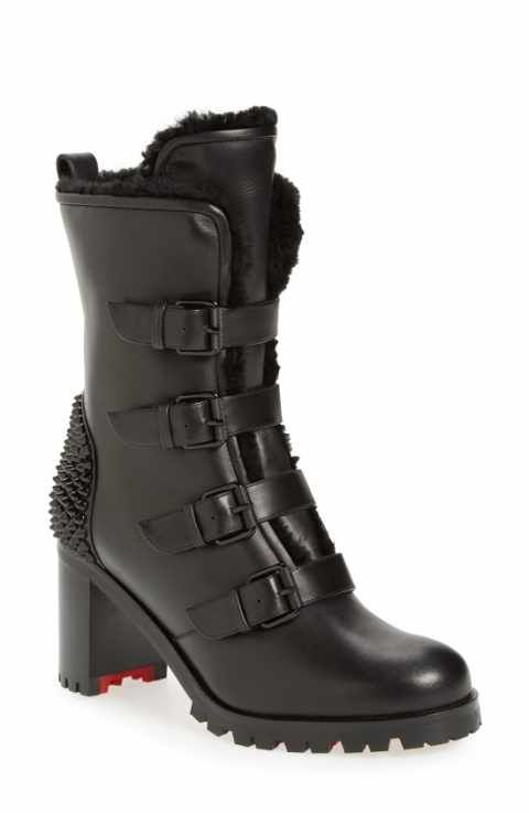 0128d47b6956 Christian Louboutin  Glorymount  Studded Buckle Boot