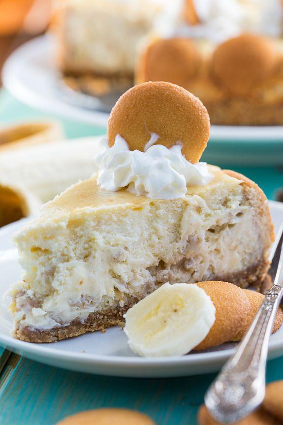 Banana Pudding Cheesecake with a vanilla wafer crust.