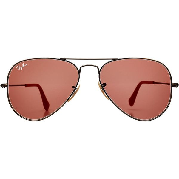 Ray-Ban RB3025 Large Aviator Sunglasses ($180) found on Polyvore featuring accessories, eyewear, sunglasses, glasses, grey, ray-ban, rose glasses, aviator sunglasses, grey sunglasses and ray ban eyewear