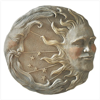 Sun Moon Stars Plaque from KoehlerHomeDecor.com. Celestial plaque for inside or out in your garden. Buy wholesale at Koehler Home Décor.
