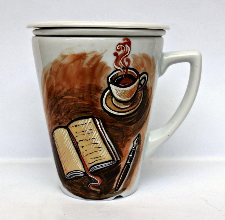 """Cana+ceai+cu+infuzor+""""Scrivere"""""""