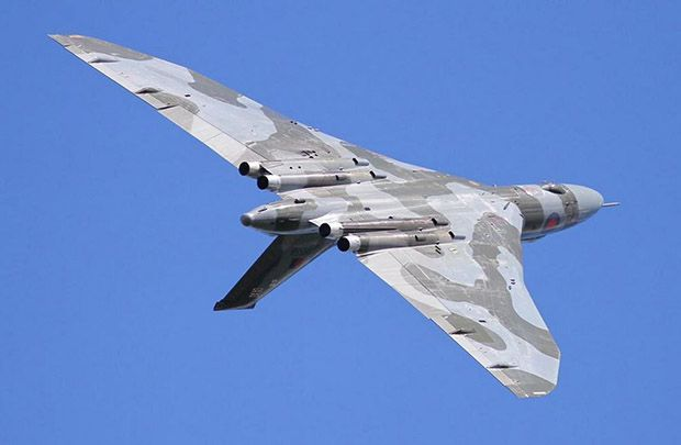 Our first 2015 public sighting of the famous Vulcan wing-over caught in excellent light by Richard Hull from Doncaster. With the high calibre of our own aircrew, it has not taken them long to get refreshed with the handling of XH558 and now Phill O'Dell, Martin Withers, Kev Rumens and Bill Ramsey have all had chance to hone their skills and practice their displays. After practicing at Elvington and Scampton, the crew yesterday returned to Robin Hood Airport where they performed their display…