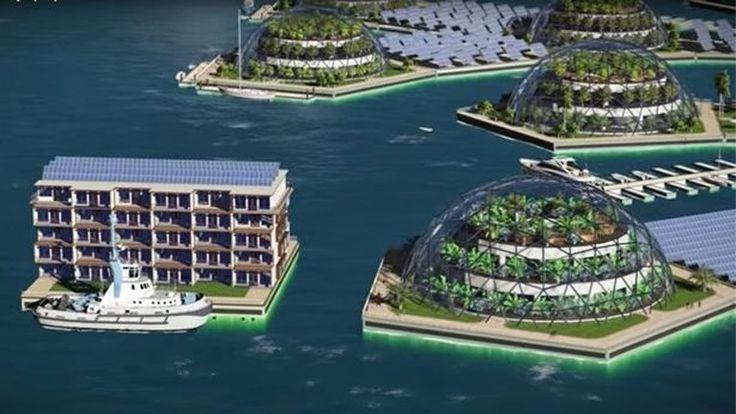 Zo zal de allereerste drijvende stad in het midden van de oceaan eruit zien