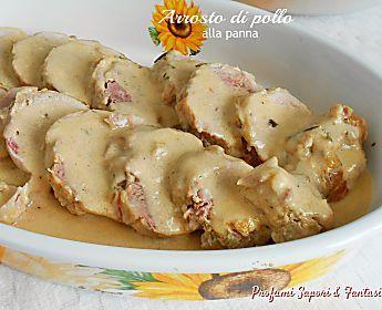 Arrosto di pollo alla panna in casseruola ottimo e raffinato secondo di carne
