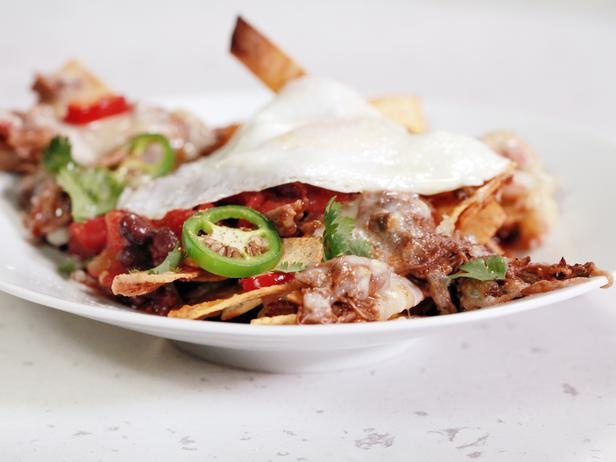 Black Bean and Beef Chilaquiles with Fried Eggs | Recipe