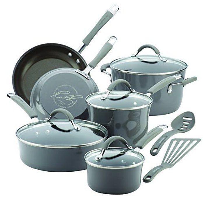 Rank & Style - Rachael Ray 12 Piece Cucina Hard Porcelain Enamel Nonstick Cookware Set #rankandstyle