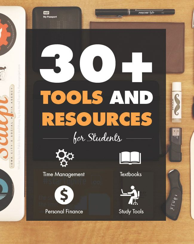 Tools, apps, and other resources to help students be more productive, manage money, find the cheapest textbooks, study better, and more.