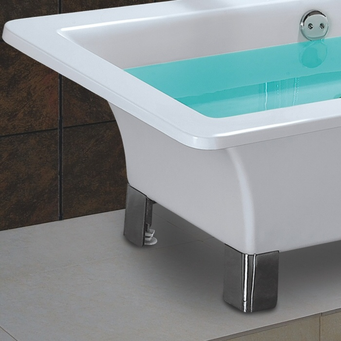 Trueshopping Square Free Standing Bath Complete with Modern feet as seen on Channel 4's You Deserve This House http://www.channel4.com/programmes/you-deserve-this-house
