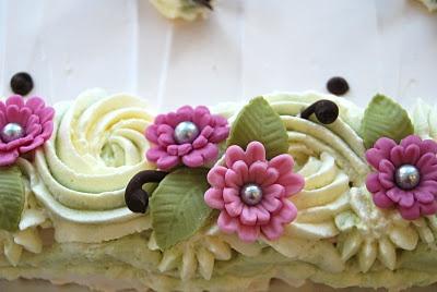 Sugar paste flowers for daughters birthday cake