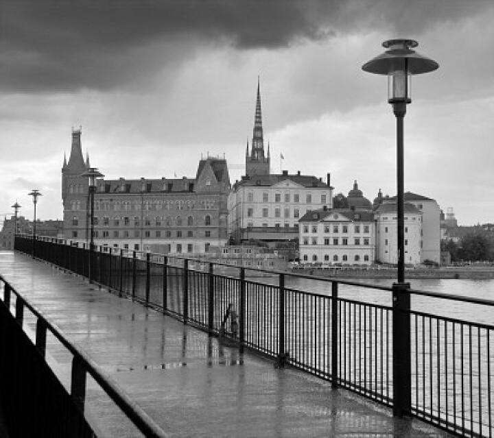 Stockholm in the rain.
