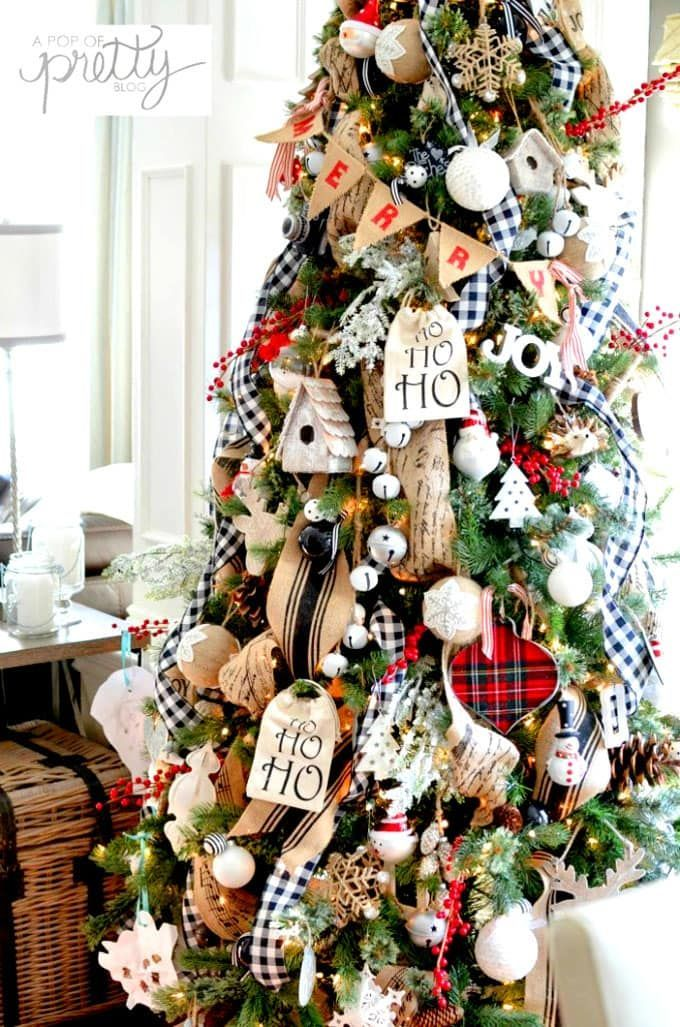 42 Best Christmas Tree Decorating Ideas Pro Secrets Plaid Christmas Decor Christmas Decorations Farmhouse Christmas Decor