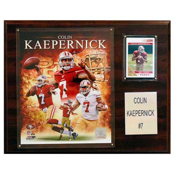 C and I Collectables NFL 15W x 12H in. Colin Kaepernick San Francisco 49ers Player Plaque - 1215KAEPERN