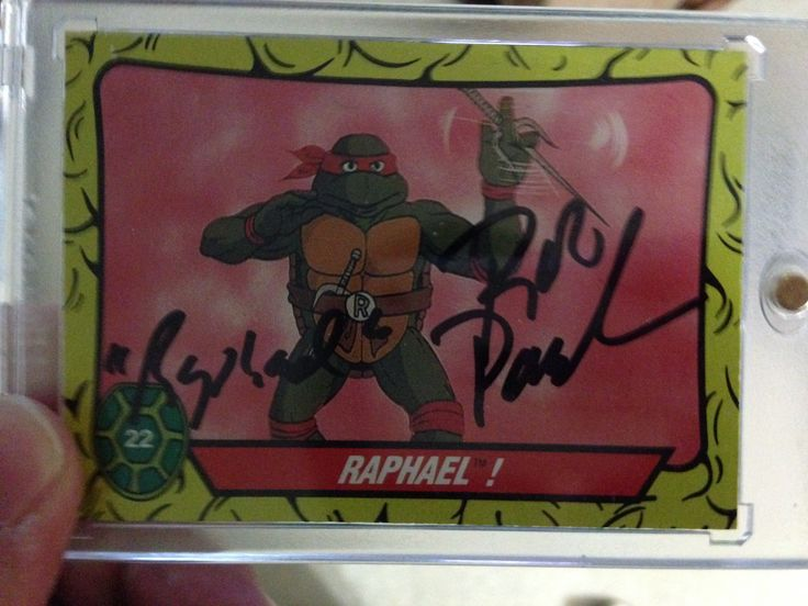 My Raphael trading card I got signed by Rob Paulsen At Izumicon 2017.