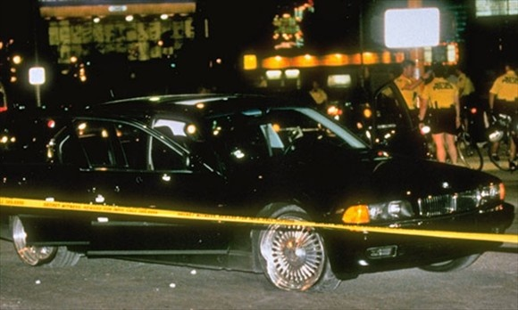 "Infamous Cars  Suge Knight's 1996 BMW 750iL  In 1996, rapper Tupac Shakur was gunned down at a Las Vegas intersection while sitting in the passenger seat of Death Row Records founder Suge Knight's black BMW 750iL. Less than a week later, Shakur died from his injuries; the crime has never been solved. Cathy Scott, author of ""The Killing of Tupac Shakur,"" says the car had been leased to Death Row at the time of the shooting, was impounded after the murder, and was eventually released to the…"