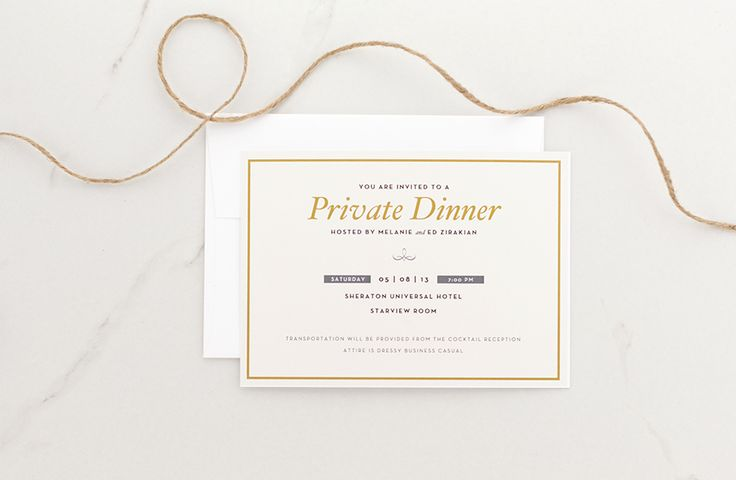 Private Dinner Invitation    Designed by Cordially Misc - business dinner invitation sample