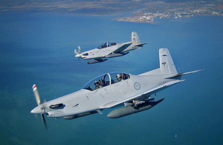 FACDU PC-9 aircraft over the waters around Magnetic Island and Townsville during Exercise Sharp Dagger. (Photo: Australia DoD)