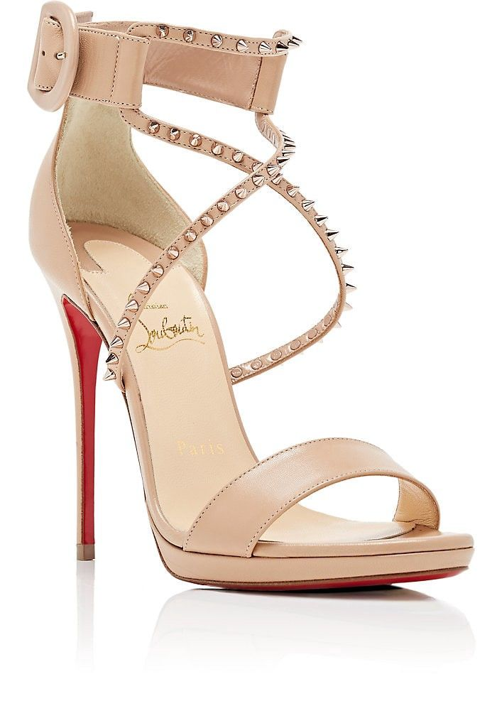 cc258df2f7ca Christian Louboutin Choca Lux Leather Platform Sandals - 6 Red in ...