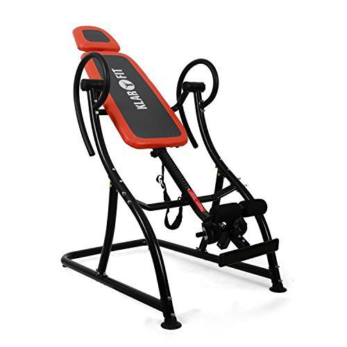Klarfit Relax Zone Pro Table d'inversion (exercices du dos, cadre de construction en acier stable, 3 positions, rembourrage mousse,: Tweet…