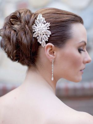 Vintage Inspired Comb by Hair Comes the Bride  www.HairComestheBride.com
