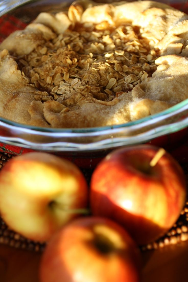 Apple Crostata with Oat Crumble Topping is the perfect blend of pie and crostata.