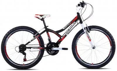 Detský bicykel Capriolo DIAVOLO 400 BLK/RED - 24