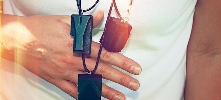 LKBK / 1 — Brzydko  #brzydko #necklace #letterpress #jewelry