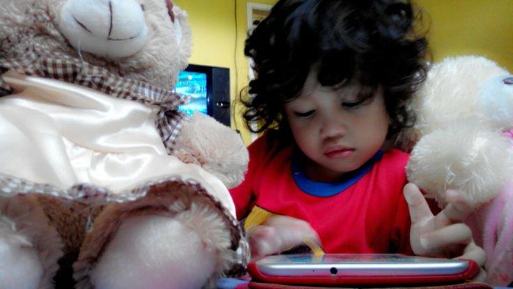 Haikal with teddy