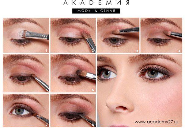 Естественный макияж отлично выглядит во все времена года. Сделать такой макияж не сложно - смотрите мастер-класс на фото.