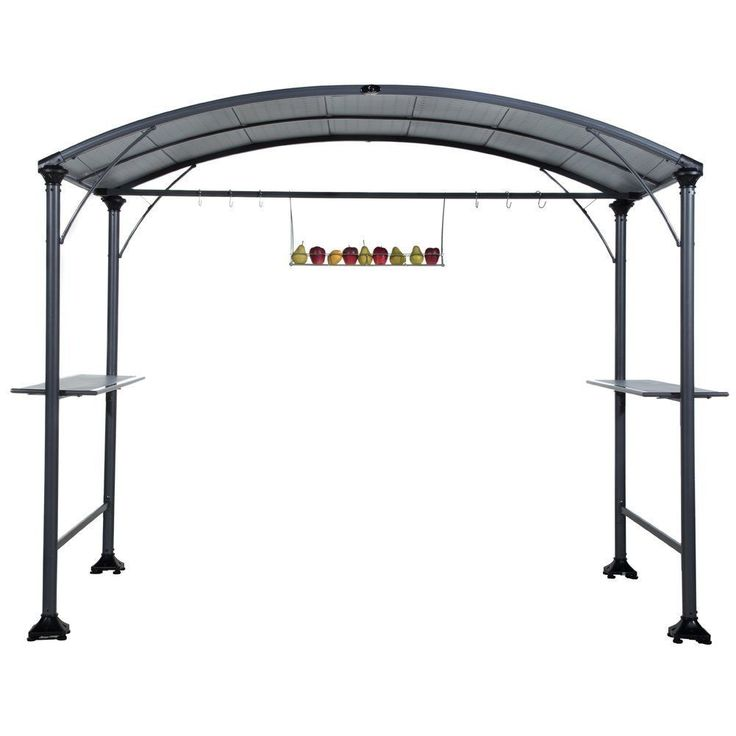 Abba Patio 9 X 5 Foot Outdoor BBQ Grill Gazebo With Steel Frame And Roofs