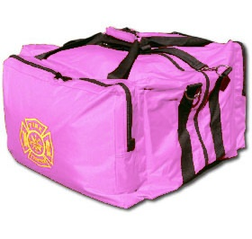 Pink Step-In Firefighter Gear Bag  |  Shared by LION