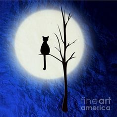 tattoos cat and full moon - Google Search More