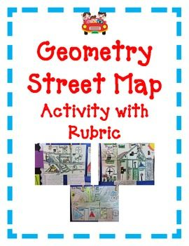 Geometry Activity Project Angles Lines Shapes STREET MAP