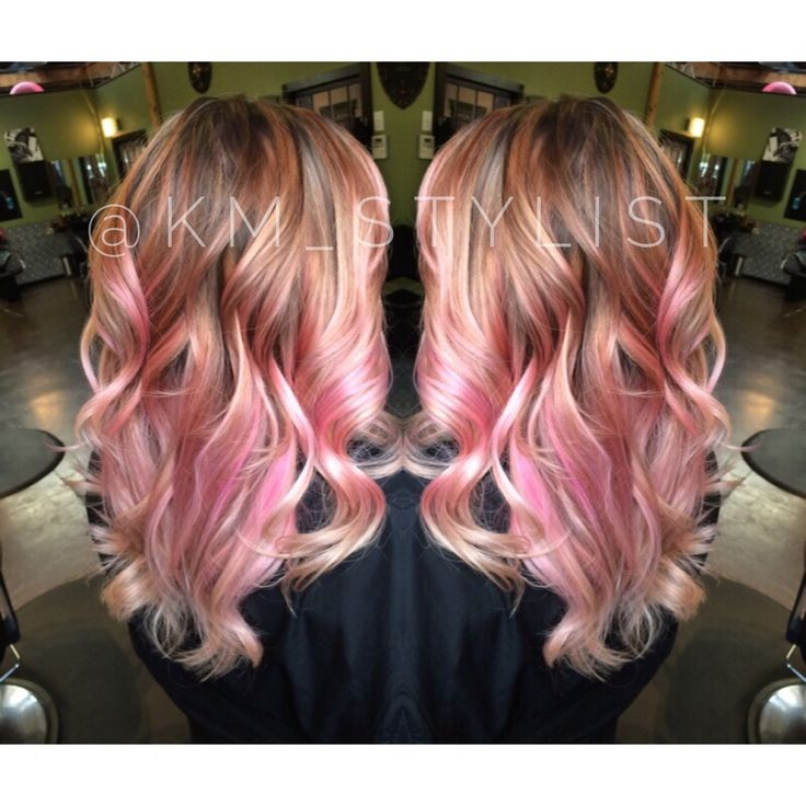 Pink Balayage Pink Hair Hair Pinterest Cabello Y Color