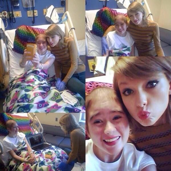 Taylor with Shelby, a young girl who it battling severe Aplastic Anemia 22.03.14