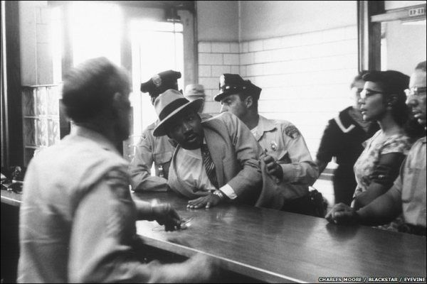 Charles Moore, Arrest of Dr. Martin Luther King, 1958.