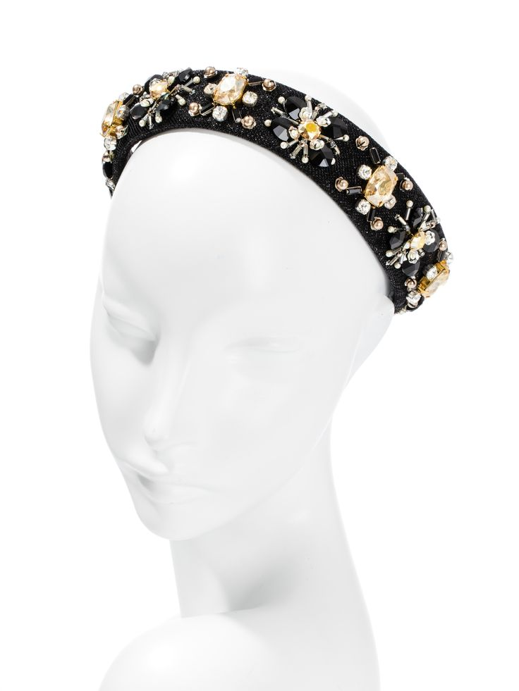 If you're beaded and you know it, clap your hands! -Swarovski crystal and glass beadwork. Headpiece by Hatmaker Jonathan Howard www.hatmaker.com.au #Headpiece #SpringRacing #AutumnRacing #WinterRacing #RacingCarnival