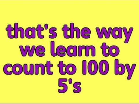 Counting in 5s - My class love this song too! A great way to learn the sequence of counting up in 5s
