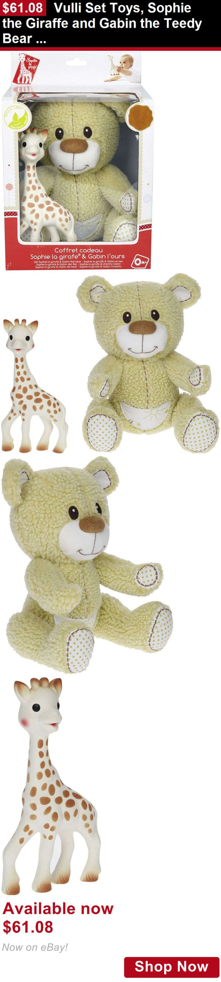 Teethers: Vulli Set Toys, Sophie The Giraffe And Gabin The Teedy Bear (Discontinued By Man BUY IT NOW ONLY: $61.08