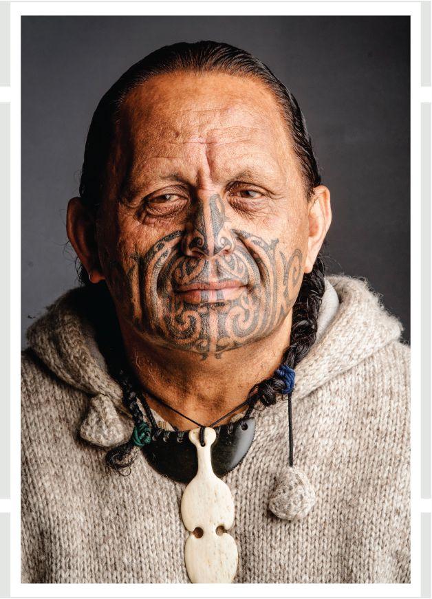 Te Mairiki Williams Kāi Tahu, Kāti Māmoe, Waitaha, Ngāti Tūwharetoa, Te Atihaunui-a-Pāpārangi, Ngāti Hauiti ki Rata Photograph Tony Bridge