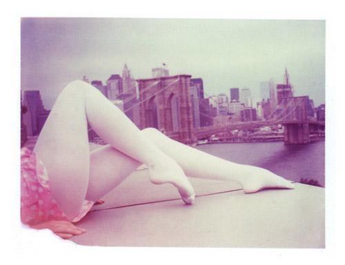 Fashion Polaroids by Matt Schwartz: Bridges Polaroid, Big Cities, Girls Generation, White Legs, Matte Schwartz, Brooklyn Bridges, Shehitpaus Studios, Paused Studios, Hit Paused